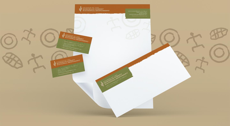 Friends of the Sonoran Desert National Monument Full Business Card Envelope Letterhead Stationary Set